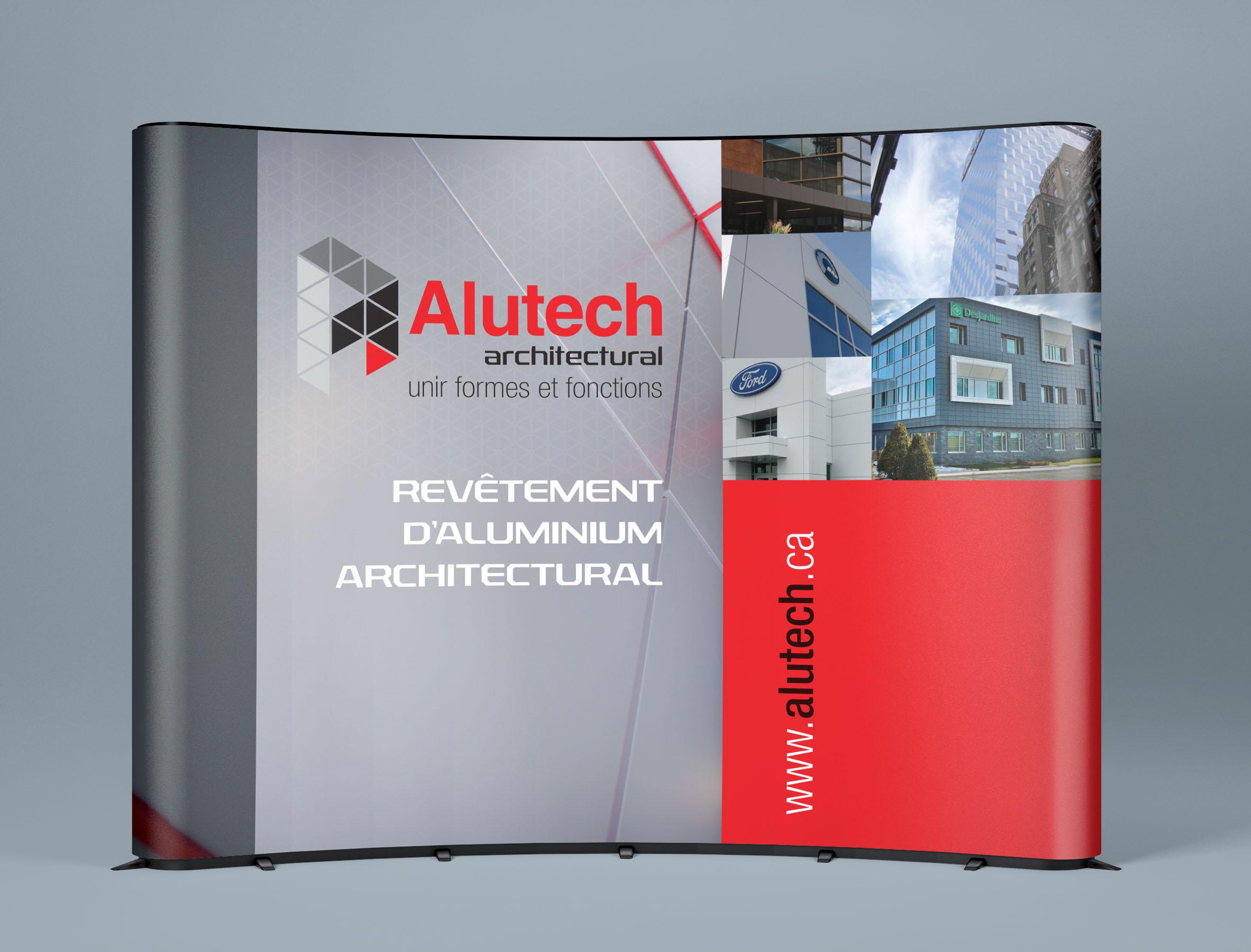 Kiosque d'exposition, kiosque, Alutech
