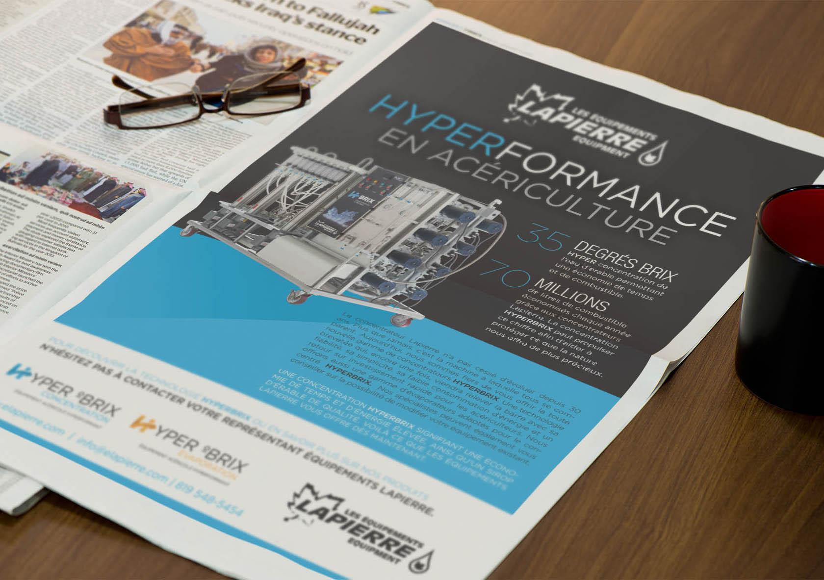 Publicité HYPERBRIX pour les journaux